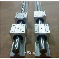 20MM SBR20-2500mm LINEAR SLIDE GUIDE SHAFT 2 RAIL+4SBR20UU BEARING BLOCK CNC A