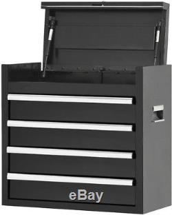 26 in. 4 Drawer Tool Chest Garage Storage Organizer Ball Bearing Slides Black