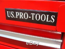 27 RED US Pro Tools Tool Chest Box 30 ball bearing slide drawers! Side cabinet