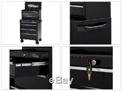 4 Drawer Rolling Tool Cabinet with Ball-Bearing Slides 26W Heavy Duty