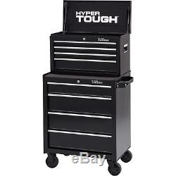 4-Drawer Rolling Tool Cabinet with Ball-Bearing Slides Hyper Tough 26W Chest