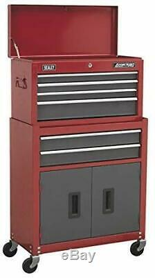 6 Drawer Topchest Rollcab Combination with Ball Bearing Slides Tool Organizer