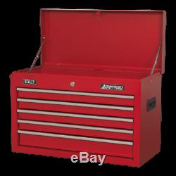 AP225 Sealey Topchest 5 Drawer with Ball Bearing Slides Red Tool Chests
