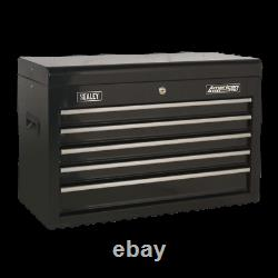 AP225B Sealey Topchest 5 Drawer with Ball Bearing Slides Black Tool Chests