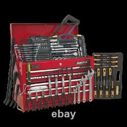 AP225COMBO Sealey Topchest 5 Drawer with Ball Bearing Slides Red 230pc Tool Kit