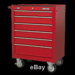 AP226 Sealey Rollcab 6 Drawer with Ball Bearing Slides Red Tool Chests