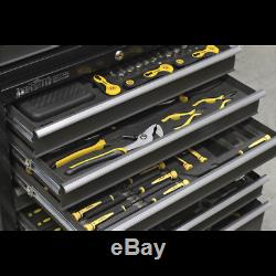 AP3508TB Sealey Rollcab 8 Drawer with Ball Bearing Slides Black/Grey Tool Chests