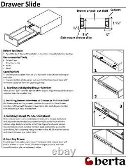 Ball Bearing Full Extension 22 Soft Close Drawer Slides 10 Pairs Value Pack