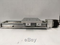 CNC Z axis Slide 8 travel Anti-Backlash and supported linear bearings rails