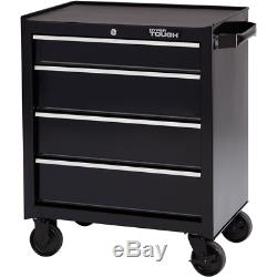 Chests Storage 4 Drawer Rolling Tool Cabinet Ball-Bearing Slides Open Close