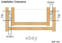 Drawer Slides 3-Sections Ball Bearing Full Extension Heavy Duty Rails 1 Pair