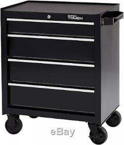Flexible Solution Hyper Tough 4-Drawer Rolling Tool Cabinet W Ball-Bearing Slide