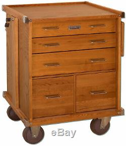 Gerstner International Oak 5-Drawer Roller Cabinet with Ball Bearing Slides R-24