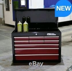 HD Pro Ball Bearing Slides Steel 9-Drawer Chest with Sturdy Steel Side Handle