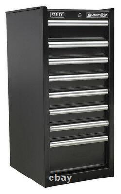 Hang-on Chest 8 Drawer With Ball Bearing Slides Black From Sealey Ap33589b Syd