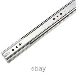 Heavy Duty Drawer Slides 3Sections Ball Bearing Soft Self Close Rail Side Mount