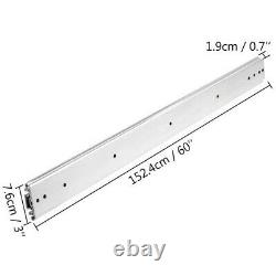 Heavy Duty Drawer Slides 500lbs Ball Bearing Drawer Slides 60inch Long With Lock