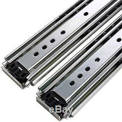 Heavy Duty Drawer Slides with Lock 3 Sections Ball Bearing Full Extension Rails