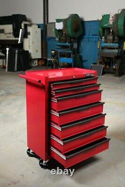 Hilka Heavy Duty Red 7 Drawer Tool Storage Trolley with Ball Bearing Slides