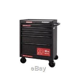 Husky Cabinet Tool Chest 27 in. W 5-Drawer Ball Bearing Slides Scratch Resistant