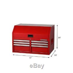 Husky Deep Tool Chest 36 in. W 6-Drawers 1-Shelf Ball Bearing Slides Wheeled