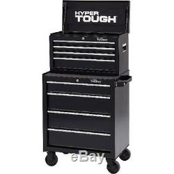 Hyper Tough 4-Drawer Rolling Tool Cabinet with Ball-Bearing Slides, 26W