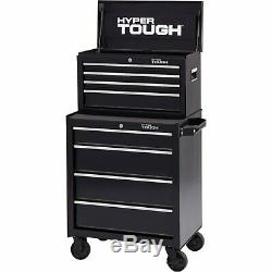 Hyper Tough 4-Drawer Rolling Tool Cabinet with Ball-Bearing Slides, 26W Storage