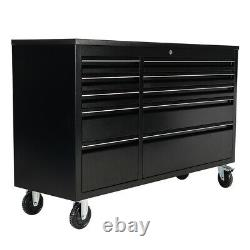 Large Garage Rollling Tool Chest Box Cabinet Roll Ball Bearing Slide 10 Drawers