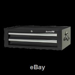 Mid-Box 2 Drawer with Ball Bearing Slides Black Sealey AP26029TB