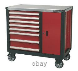 Mobile Workstation 8 Drawer With Ball Bearing Slides From Sealey