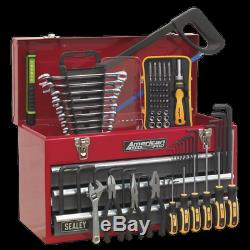 Portable Tool Chest 3 Drawer With Ball Bearing Slides Red/grey 93pc Tool Kit