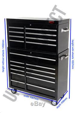Professional Garage Tool Chest Rollcab Top Box With Us Ball Bearing Slides New