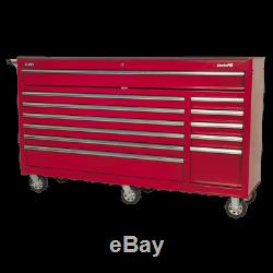 Rollcab 12 Drawer with Ball Bearing Slides Heavy-Duty Red Sealey AP6612