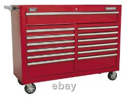 Rollcab 13 Drawer With Ball Bearing Slides Red From Sealey Ap5213t Syd