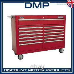 Rollcab 13 Drawer with Ball Bearing Slides Red