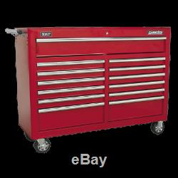 Rollcab 13 Drawer with Ball Bearing Slides Red Sealey AP5213T
