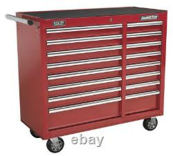 Rollcab 16 Drawer With Ball Bearing Slides Heavy-duty Red From Sealey Ap41169