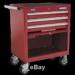 Rollcab 3 Drawer with Ball Bearing Slides Red Sealey AP33439