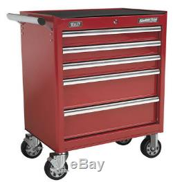 Rollcab 5 Drawer With Ball Bearing Slides Red From Sealey Ap33459 Syd