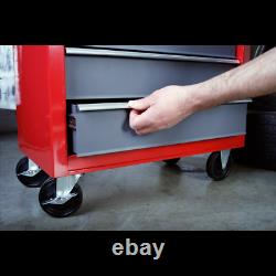 Rollcab 5 Drawer with Ball Bearing Slides Red/Grey Sealey AP22505BB