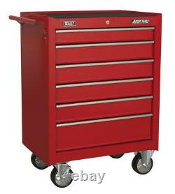 Rollcab 6 Drawer With Ball Bearing Slides Red From Sealey Ap226 Syd