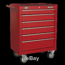 Rollcab 6 Drawer with Ball Bearing Slides Red Sealey AP226
