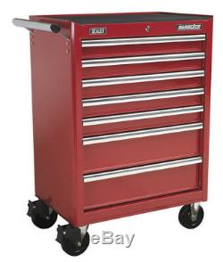 Rollcab 7 Drawer With Ball Bearing Slides Red From Sealey Ap33479 Syd