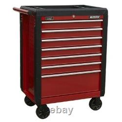 Rollcab From Sealey 7 Drawer With Ball Bearing Slides Red