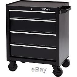 Rolling Tool Cabinet 4 Drawer with Ball-Bearing Slides 26 Wide 4.5 Casters New