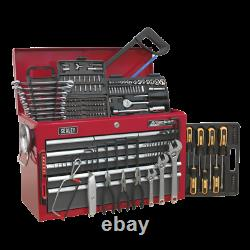 SWS20 Toolbox Topchest 9 Drawer with Ball Bearing Slides RED GREY 205pce TOOLKIT