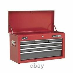 Sealey AP2201BB Topchest 6 Drawer with Ball-Bearing Slides Red/Grey