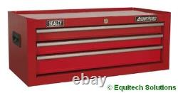 Sealey AP223 Add On Step Up Toolbox Mid Chest Ball Bearing Runners Slides Red