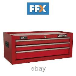 Sealey AP223 Mid-Box 3 Drawer with Ball Bearing Slides Red