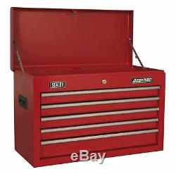 Sealey AP225 Topchest 5 Drawer with Ball Bearing Slides Red